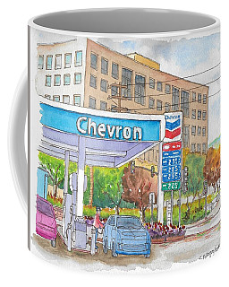 Chevron Gasoline Station In Olive And Buena Vista, Burbank, California Coffee Mug