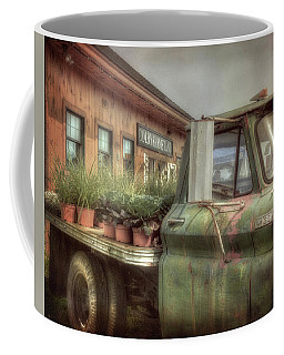 Coffee Mug featuring the photograph Chevy C 30 Pickup Truck - Colby Farm by Joann Vitali