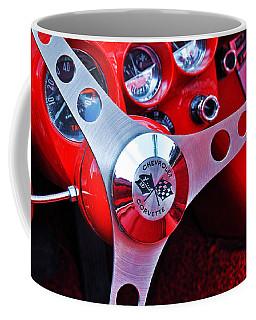 Chevy Corvettte Steering Wheel Coffee Mug