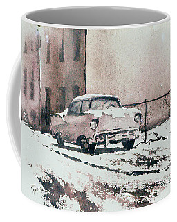Chevy In Snow Coffee Mug