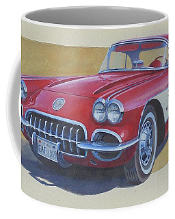 Coffee Mug featuring the drawing Chevy by Mike Jeffries