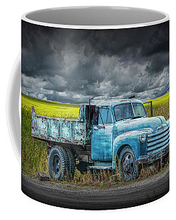 Chevy Truck Stranded By The Side Of The Road Coffee Mug