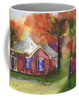 Coffee Mug featuring the painting Chez Thatcher by Frank Bright