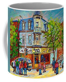 Chez Vito Rue Fairmount Landmark Architecture Beautiful Summer Scene Montreal 375 Carole Spandau Art Coffee Mug