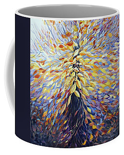 Coffee Mug featuring the painting Chi Of The Mighty Tree by Joanne Smoley