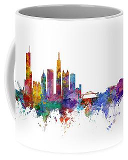 Chicago And Milwaukee Skyline Mashup Coffee Mug