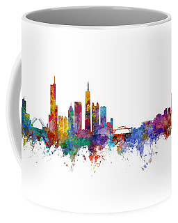 Chicago And Milwaukee Skyline Mashup Coffee Mug