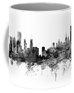 Chicago And New York City Skylines Mashup Coffee Mug