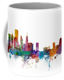 Chicago And St Louis Skyline Mashup Coffee Mug