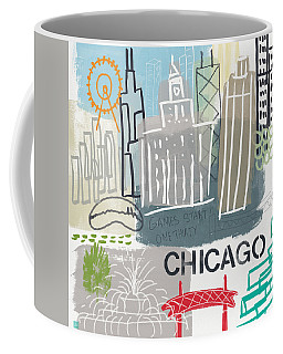 Chicago Cityscape- Art By Linda Woods Coffee Mug