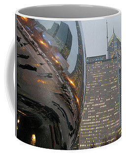 Coffee Mug featuring the photograph Chicago Cloud Gate. Reflections by Ausra Huntington nee Paulauskaite