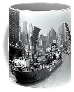 Coffee Mug featuring the photograph Chicago Draw Bridge 1941 by Daniel Hagerman