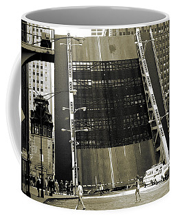 Old Chicago Draw Bridge - Vintage Photo Art Print Coffee Mug