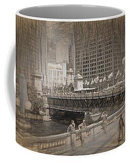 Chicago Dusable Bridge Street Scene Coffee Mug