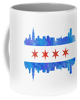 Chicago Flag Watercolor Coffee Mug