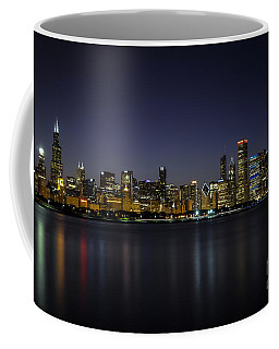 Chicago In Blue Coffee Mug by Andrea Silies