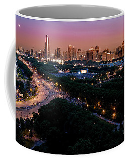Chicago Independence Day At Night Coffee Mug