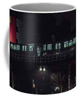 Chicago L At Night Coffee Mug