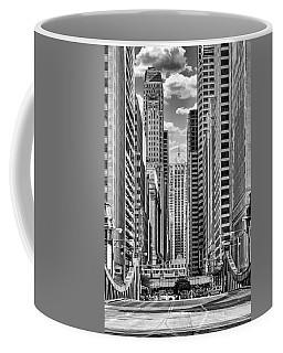 Chicago Lasalle Street Black And White Coffee Mug