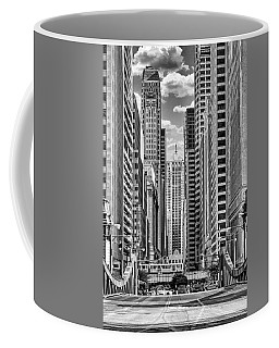 Chicago Lasalle Street Black And White Coffee Mug