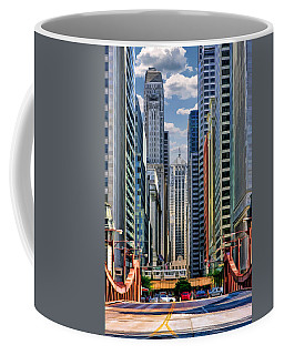 Coffee Mug featuring the painting Chicago Lasalle Street by Christopher Arndt