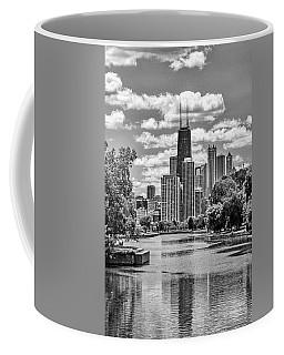Chicago Lincoln Park Lagoon Black And White Coffee Mug