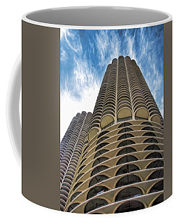 Coffee Mug featuring the painting Chicago Marina Towers by Christopher Arndt