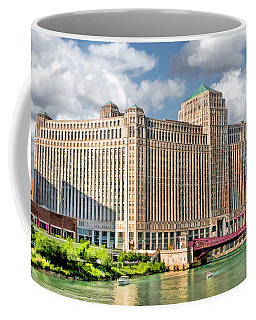 Coffee Mug featuring the painting Chicago Merchandise Mart by Christopher Arndt