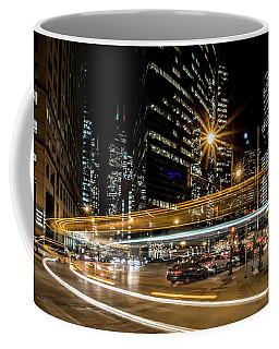 Chicago Nighttime Time Exposure Coffee Mug