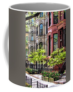 Coffee Mug featuring the painting Chicago North Shore Greystones by Christopher Arndt