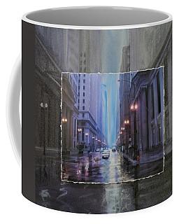 Chicago Rainy Street Expanded Coffee Mug