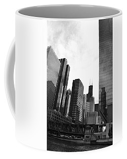 Chicago River And Willis Tower Coffee Mug