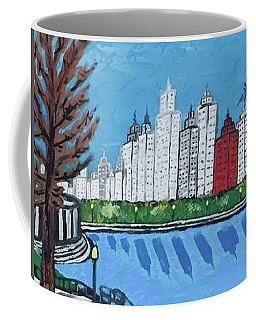 Coffee Mug featuring the painting Chicago Skyline by Jonathon Hansen