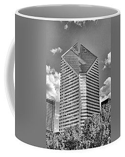Coffee Mug featuring the photograph Chicago Smurfit-stone Building Black And White by Christopher Arndt