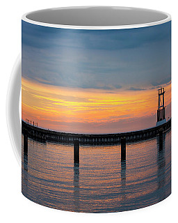 Coffee Mug featuring the photograph Chicago Sunrise At North Ave. Beach by Adam Romanowicz