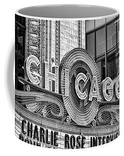 Chicago Theatre Marquee Black And White Coffee Mug