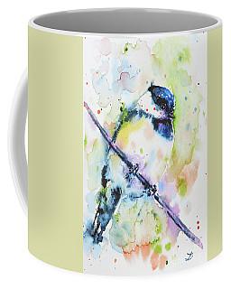 Coffee Mug featuring the painting Chick-a-dee-dee-dee by Zaira Dzhaubaeva