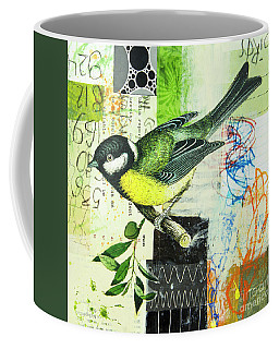 Chickadee Coffee Mug by Elena Nosyreva