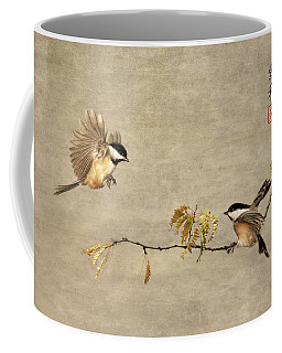 Chickadee Encounter I Coffee Mug