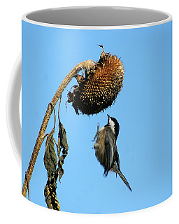 Chickadee In Flight Coffee Mug