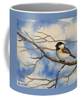 Chickadee On Branch Coffee Mug