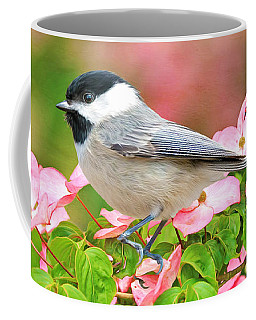 Chickadee On Dogwood Coffee Mug