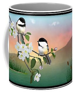 Chickadees And Apple Blossoms Coffee Mug