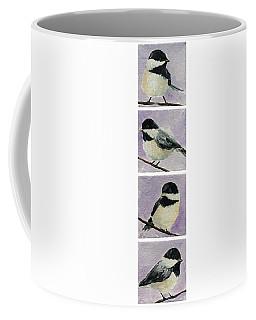 Chickadees Column Coffee Mug