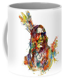 Chief Mojo Watercolor Coffee Mug