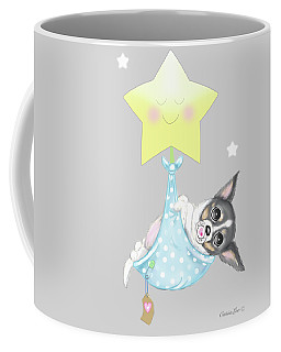 Coffee Mug featuring the painting Chihuahua Cookie Baby by Catia Lee