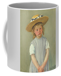 Coffee Mug featuring the painting Child In A Straw Hat By Mary Cassatt 1886 by Movie Poster Prints