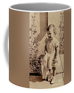 Coffee Mug featuring the photograph Child Of 1940s by Linda Phelps