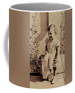Coffee Mug featuring the photograph Child Of  The 1940s by Linda Phelps