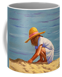 Child Playing In The Sand Coffee Mug